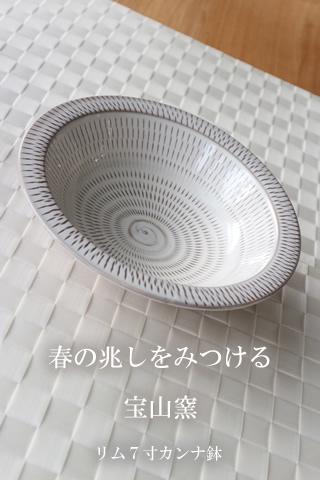 宝山窯 リム7寸カンナ鉢