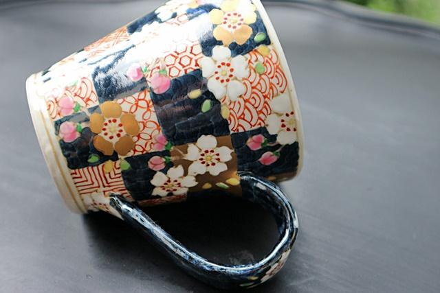 濱田高滋 マグカップ 市松さくら