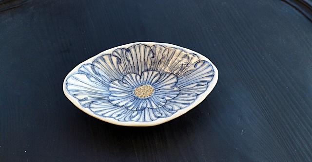加藤芳平 牡丹  小皿