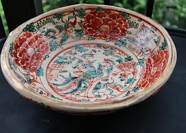 和田一人  赤絵  大鉢